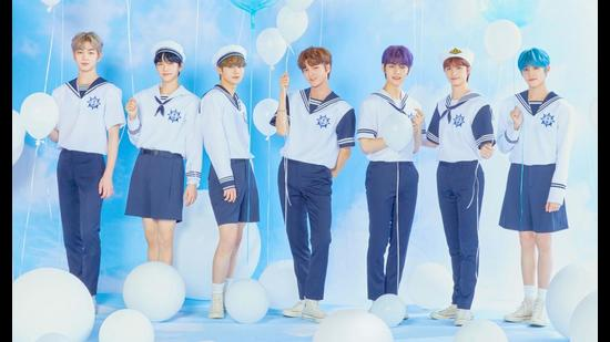 K-pop group DRIPPIN, with members aged 16 to 21 years, recently released their new summer album, Free Pass.