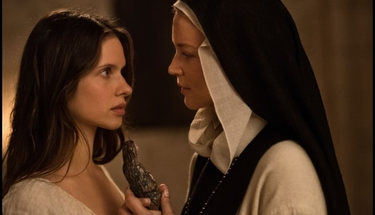 Benedetta stars Charlotte Rampling, Daphne Patakia and Lambert Wilson in prominent roles.