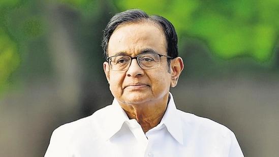 Congress leader P. Chidambaram (Ajay Aggarwal / HT PHOTO)