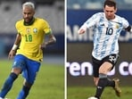 A combination of file pictures shows Brazil's Neymar (L) and Argentina's Lionel Messi. (AFP)