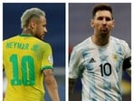 Copa America final: Neymar's Brazil takes on Messi's Argentina.(Reuters/HT Collage)
