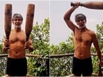 Ankita Konwar's cutie Milind Soman trains with two mudgars in new workout video(Instagram/@milindrunning)
