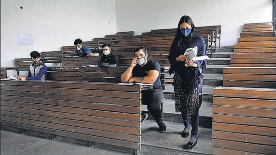 When some colleges reopened in November last year, not many students turned up for classes. (HT File Photo)
