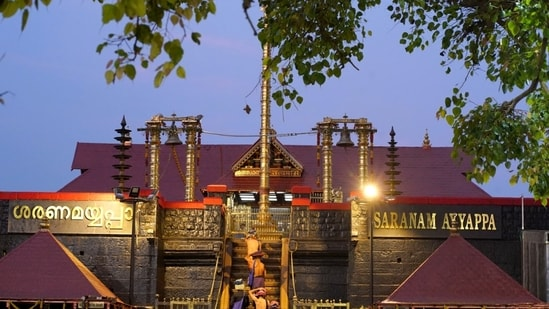 The temple of Lord Ayyappa in Sabarimala was opened on April 10 with restrictions for an eight-day Vishnu festival. (ANI Photo)