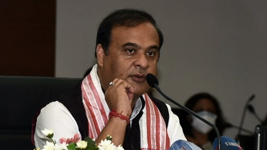 Assam Chief Minister Dr. Himanta Biswa Sarma addressing a press conference in Guwahati on Thursday. (ANI Photo)