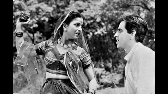 Dilip Kumar and Kamini Kaushal in Arzoo (1950), an adaptation of Wuthering Heights. Kumar died this week, aged 98.