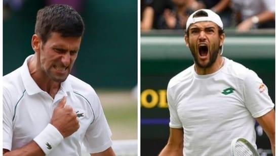 Novak Djokovic will face Matteo Berrettini in Wimbledon final.(Reuters)