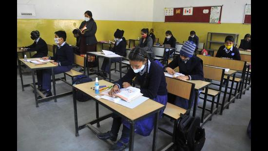 President of UT Cadre of Educational Employees Union, Swarn Singh Kamboj says vacant positions had increased teachers' workload. (HT File Photo)