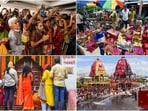 Puri in Odisha will go under a 48-hour curfew from Sunday, ahead of the Rath Yatra on July 12. According to the district administration's order, the restrictions will remain in place from 8pm on Sunday to 8pm on July 13. Here's how people across India are gearing up for the celebration and offering prayers in nearby temples.