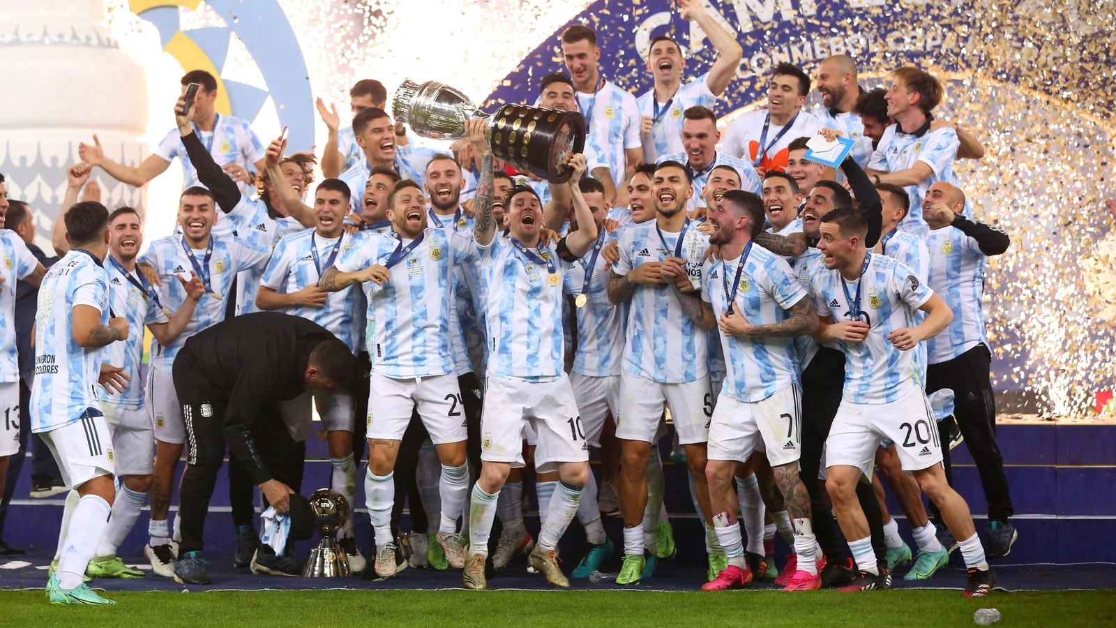 Copa America Final Argentina beat Brazil 1-0: Di Maria goal gives Messi & Argentina first Copa America title since 1993   Football News - Hindustan Times