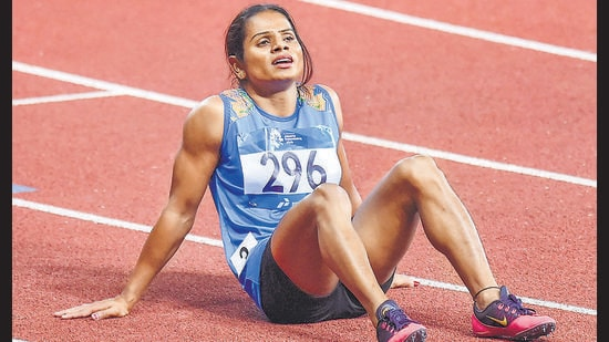 Dutee Chand, who has made it to the Olympics for the second time in a row in the 100m event, is prepping for five to six hours daily! (Photo: Shahbaz Khan/PTI)
