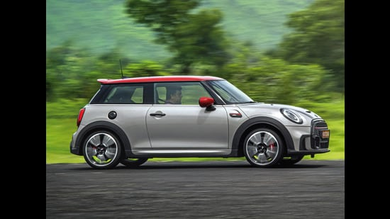The JCW model gets a sportier treatment than the regular Mini