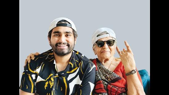 Viraj, 31, with his Nani, Bhanuben, 81