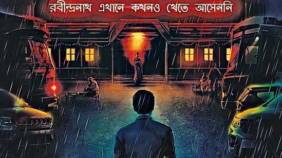 A poster of Rabindranath Ekhane Kokhono Khete Asen Ni, an OTT adaptation of a thriller novel.(HT Photo)