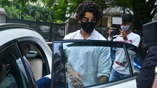 Ishaan Khatter seen at the Panday family's house. (Varinder Chawla)