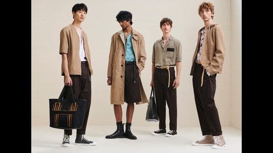 This season's highpoint are shirts with sailboat stitching and Bermuda shorts with drawstring waist