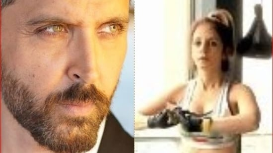 Hrithik Roshan responds to Sussanne Khan's new workout video.