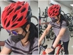 Tamil actor Trisha Krishnan shared a picture of her cycle.