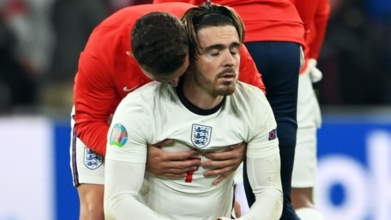 Jack Grealish slammed the penalty critics after England lost the Euro 2020 final to Italy in shootout at the Wembley Stadium on Sunday.(Pool via REUTERS)