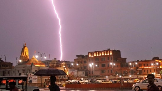 28 killed due to lightning as heavy rains lash Rajasthan, Uttar Pradesh   Latest News India - Hindustan Times