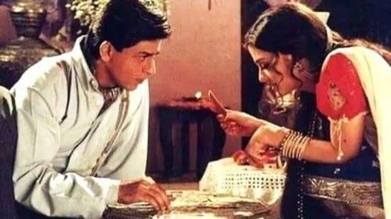 Shah Rukh Khan and Aishwarya Rai in Devdas.