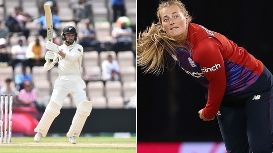Devon Conway, Sophie Ecclestone win ICC Player of the Month Award for June 2021(HT Collage)