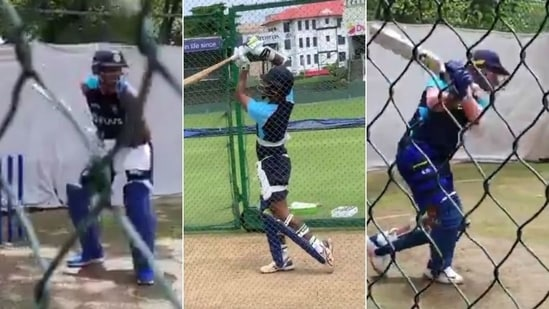 Team India sweat it out at nets ahead of ODI series in Colombo(HT Collage)