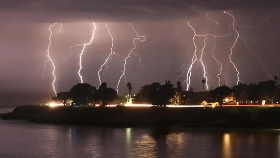 Lightning strikes have killed at least 2,000 people every year in India since 2004, India Meteorological Department (IMD) said last month in an awareness workshop on lightning strikes.(AP representative image)