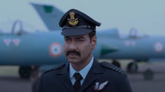 Ajay Devgn in a still from the Bhuj: The Pride of India trailer.