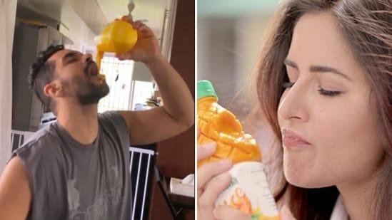 Angad Bedi said that he failed to recreate Katrina Kaif's mango drink moment.