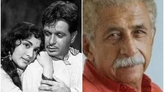 Naseeruddin Shah and Dilip Kumar worked together in the film Karma.