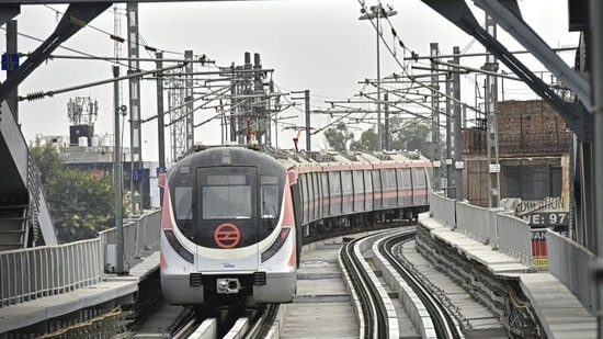 Train services between Majlis Park to Mayur Vihar Phase-1, and IP Extension to Maujpur or Shiv Vihar sections, will operate normally between July 12 to 15. (Anushree Fadnavis / HT Photo)