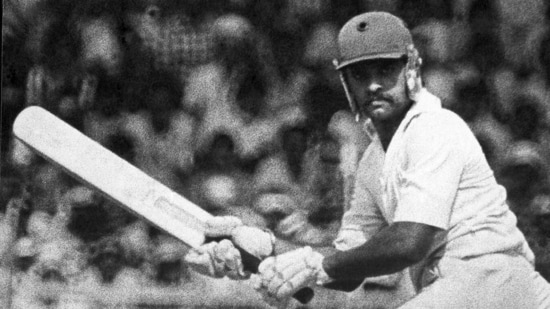 14 January 1982 - Yashpal Sharma on the second day of the fifth Test at Chepauk Stadium, Madras. Sharma died of a heart attack on Tuesday, July 13, 2021. He was aged 66. (HT Archive)