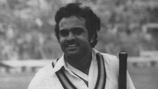 A portrait of cricketer Yashpal Sharma dated October 5, 1987. Sharma died of a heart attack on Tuesday, July 13, 2021. He was aged 66. (HT Archive)