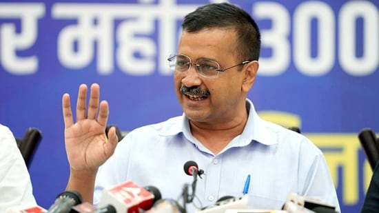 Arvind Kejriwal has been visiting other poll-bound states and promising free electricity if his party's government comes to power.(ANI File Photo)