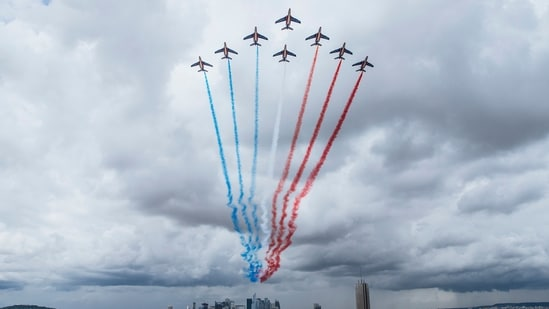 Last year, the Bastille Day celebrations were largely muted due to the Covid-19 pandemic.(AP)