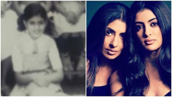 Shweta Bachchan dropped an old picture from her school days.
