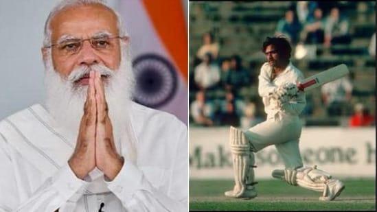 Indian Prime Minister Narendra Modi (L) condole death of former cricketer Yashpal Sharma (R)(HT Collage)