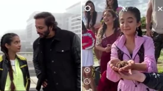 Anushka Sen and Rohit Shetty in the new promo of Khatron Ke Khiladi 11.