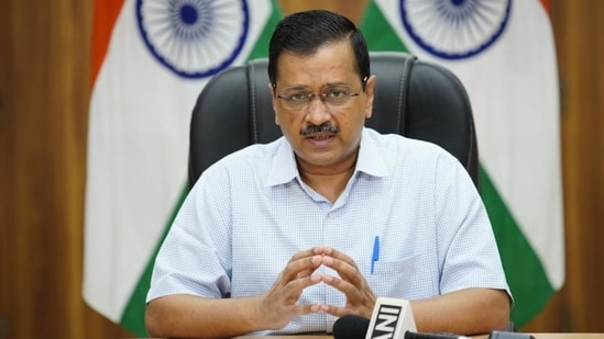 """AAP workers welcomed Kejriwal at the airport in the afternoon, after which he went to a hotel in Dona Paula locality near Panaji. After the meeting, Sudin told reporters that it was just a """"courtesy"""" visit.(File Photo)"""