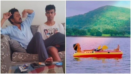 Irrfan Khan's son Babil Khan has shares pictures of his private lake.