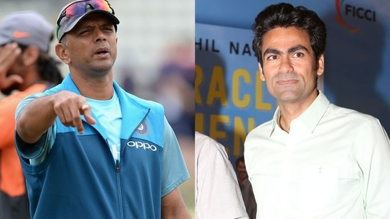 Mohammad Kaif (R) feels Rahul Dravid will manage the gifted India bowler. (Getty Images)