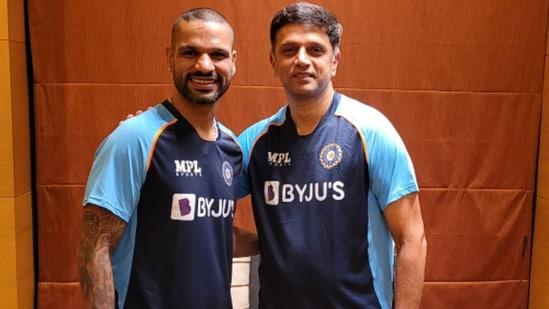Shikhar Dhawan and Rahul Dravid.(BCCI)