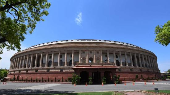 A view of the Parliament House. (Mohd Zakir/HT Archive)