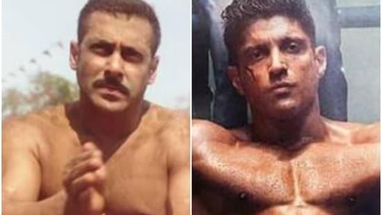 Salman Khan in Sultan and Farhan Akhtar in Toofaan.