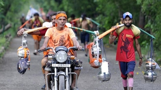 Uttarakhand is urging devotees to comply with the ban on this year's Kanwar Yatra.(HT File Photo)
