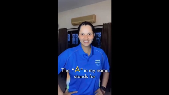 The image is taken from the video shared by Sania Mirza on Instagram.(Instagram/@mirzasaniar)