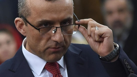 Afghanistan's vice president Amrullah Saleh, a former spy chief who has survived more than one assassination attempt by the Taliban, is a trenchant critic of Pakistan.(AFP)