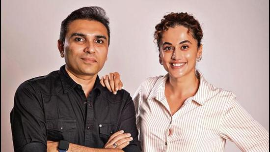 For her new business venture, actor Taapsee Pannu has joined forces with Pranjal Khandhdiya, a content creator and producer for over 20 years.