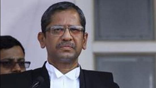 **EDS: FILE PHOTO** New Delhi: In this file photo dated Sept. 2, 2013, Supreme Court Judge Justice NV Ramana. Justice NV Ramana was appointed as the next Chief Justice of India by President Ram Nath Kovind on Tuesday, April 6, 2021. (PTI Photo/Kamal Kishore)(PTI04_06_2021_000241B) (PTI)